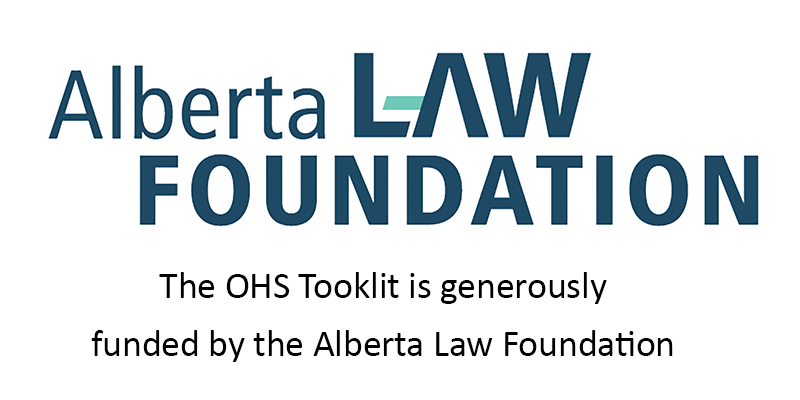 Alberta Law Foundation funding acknowledgement
